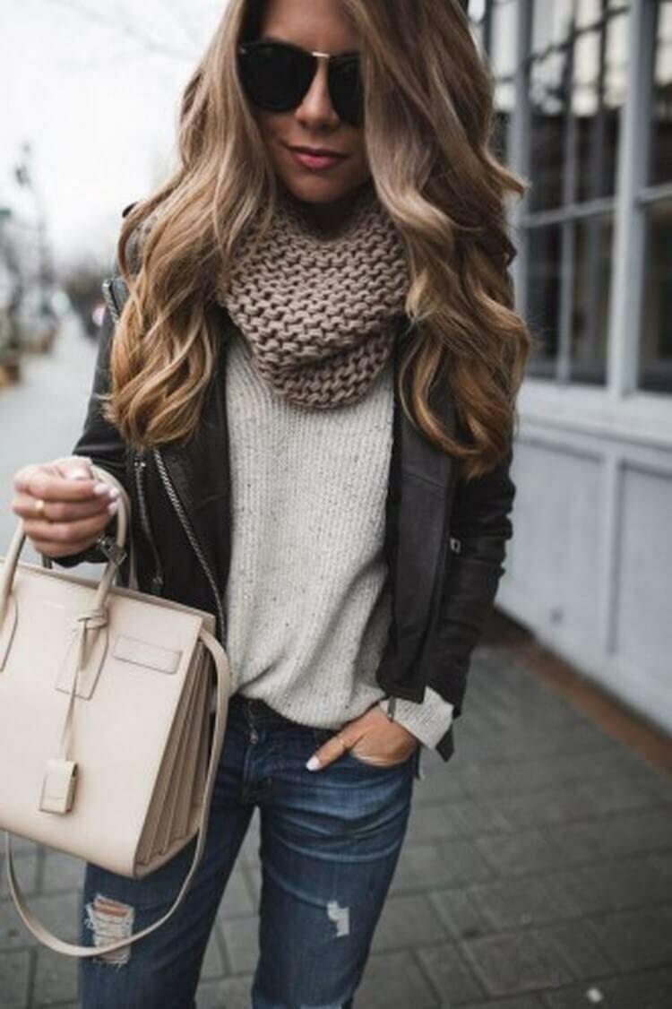 a6f82c09d3b Как носить шарф осенью  20 модных образов