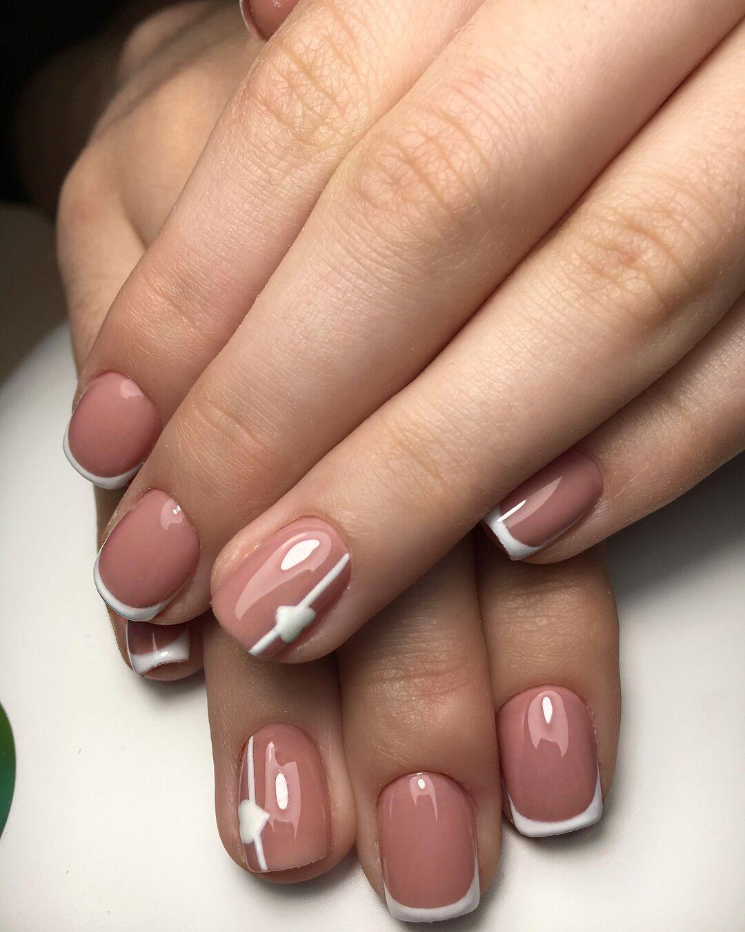Картинки ногти короткие французский маникюр